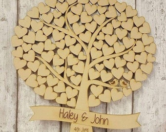 Wedding guest tree, wedding guest book sign, wedding sign, guest book, personalised wedding sign, mr and mrs sign