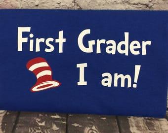 Kindergarten GRADUATION shirt, First Grade Shirt, First Grader boy shirt, First Grader girl shirt