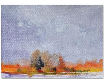 Original Abstract Landscape Watercolor Painting, Fall Painting, Original Painting, Abstract Art, Original Art, Watercolor Art Painting