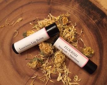 luscious lip balm, herbal, natural, no color