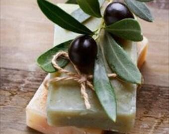 Olive Oil Soap, Handmade Soap, Unscented Cold Process Soap bar, Greek Olive Oil Castile soap, Sensitive skin cleanse, Dry skin lather wash
