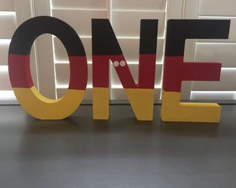 First Birthday Mickey Mouse O-N-E Wood Letters Photo Prop