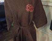 Monogrammed Waffle Weave Robe Bridal Party birthday Mother's day spa day Men gifts Personalized Men Robes