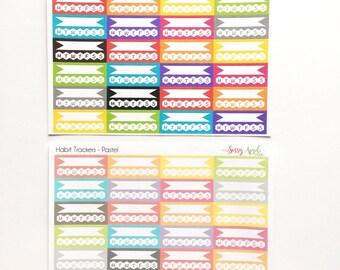 Habit Tracker Stickers -Planner Stickers