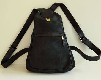 Mulberry backpack in black leather