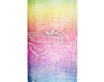 Margarita Rainbow All Over Beach Towel