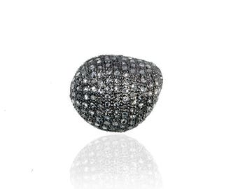 SDC-1638 Bead Pave Diamond Charm