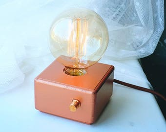 Pearl Bronze design table lamp with Edison bulb and dimmer!