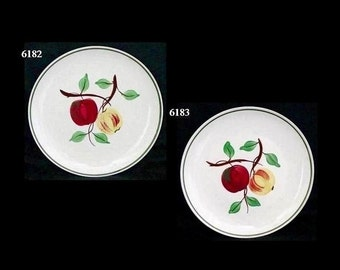 "Blue Ridge Pottery Plate APPLE MIX 9.25"" Lunch (Buy 1 or 2) Handpainted Southern Potteries Skyline Shape Dinnerware (B15) 6183"