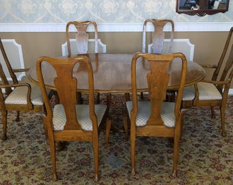 Vintage Oak Dining Table Etsy