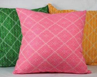 Green pink orange throw pillows boho halloween pillow cover 18x18 pillowcase outdoor pillows halloween decor pillow cover 20x20 pillow cases
