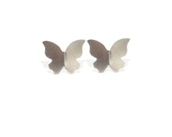 Silver earrings, 925 Silver Butterfly small