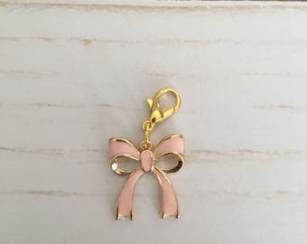 Pink Bow Charm