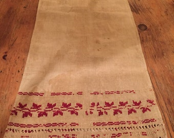 Gorgeous dated Antique Table runner