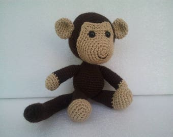 Stuffed monkey,Crochet Monkey, Stuffed Toys, Amigurumi Monkey, soft toy monkey,first toy,Unique Baby Gift, Plush Toy Monkey,Gift