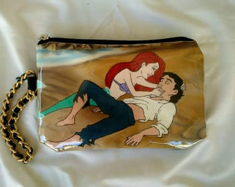 Ariel and Erick - Handpainted purse (wrislet)