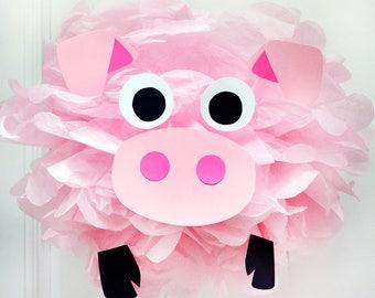 Pink Pig - Tissue Paper Pom Pom Kit