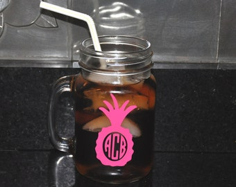 Personalized Mason Jar Glass