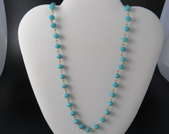 Turquoise Crystal Chain