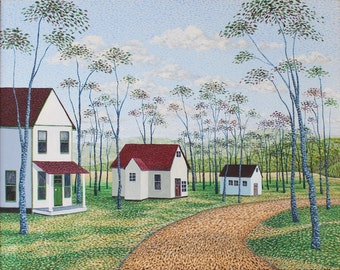 Michael Rousseau original acrylic painting