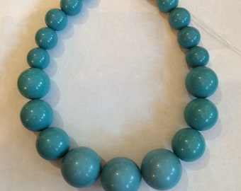 Vintage Robin's Egg Blue Necklace 1960's
