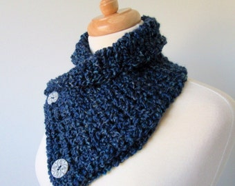Navy Blue Cowl