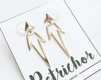 Geometric Drop Earrings_ Gold/Rose Gold/ Silver