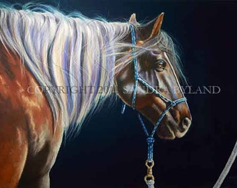 MUSTANG HORSE ART Mustang Horse Art Fine Art Giclee Print Horse Lover Painting Wild Horse Art Signed Print Giclee Horse Art Pastel Mustang