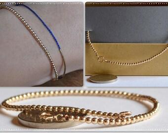 Gold Balls Bracelet / Small Little Gold Filled Balls Bracelet / Layering Bracelet / Sterling Silver Balls Bracelet / Rose Gold Bracelet