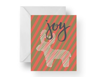 Christmas Cards, Holiday Cards, Christmas Note Cards, Joy, Deer, Christmas stationery