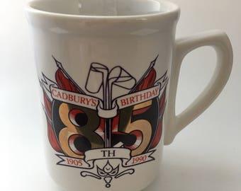 Vintage Royal Duchy Cornwall Cadbury's 85th Birthday Mug
