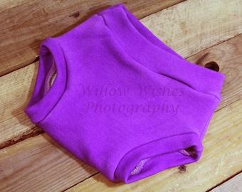 Wool Interlock Soaker, Lilac, cloth diaper cover