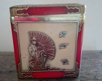 Old tin box, old Tin box .1960 's old box