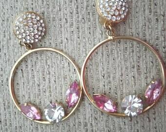 Clip earrings, earrings years 80, vintage earrings