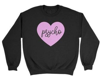 Pastel Psycho Heart Sweatshirt