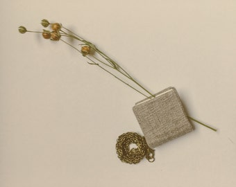 the little linen book necklace