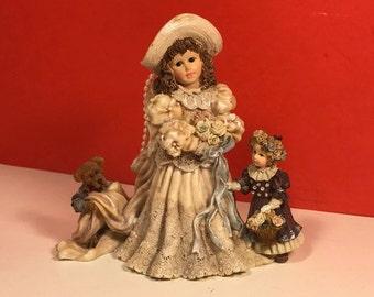 BOYDS YESTERDAYS CHILD Figurine statue Dollstone collection series 5 Emily 3508 Kathleen Otis The Future 1995 retired limited