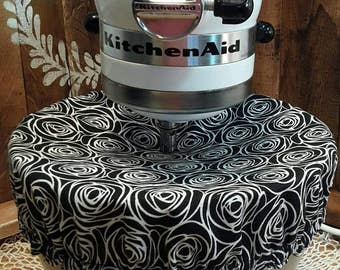 Kitchenaid cover/REVERSIBLE/black and white