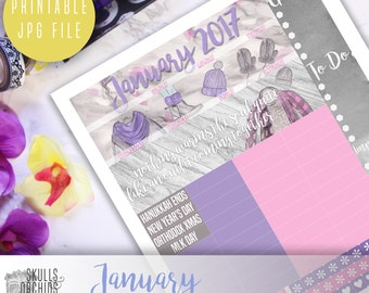 50 % OFF! HAPPY PLANNER January Monthly View Kit – Printable Planner Stickers