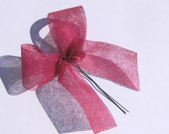 Lanyard red Dekoschleife flower decoration Garland Kranzdeko guestbooks tie wreath