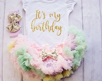 Girl  first Birthday Outfit,  1st Birthday Outfit, Baby Girl Clothing, Birthday Shirt Girl, Birthday Outfit 1, Birthday shirt 1
