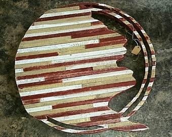 Florida State Seminoles Colored Silhouette