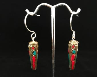 Earrings Tibetan Beads