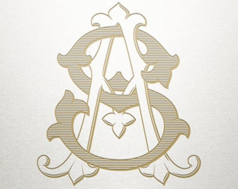 Fancy Monogram Design - AS SA - Fancy Monogram - Digital