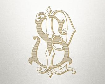 Premade Logo Monogram - PS SP - Premade Logo - Digital