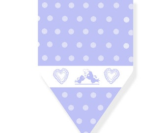 Bunting Flags | Baby Christening | Pastel Party Decor