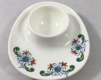 Vintage 1960s Scandinavian Norwegian Mid Century Flowered Figgjo Flint Egg Cup