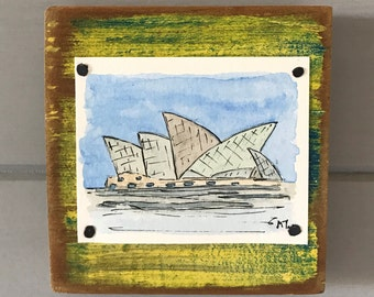 Original Watercolour Painting - Sydney Opera House