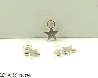 10 followers stamp plate Silver Star 10 x 8 mm