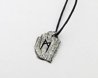 Mannaz Viking Rune Letter M Runic Pendant
